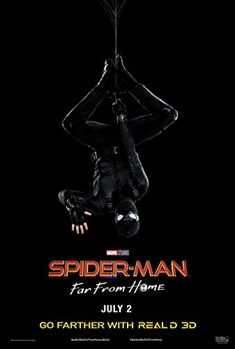 Lionbeen Spider Man Far from Home Movie Poster Cartel de la Pelicula 70 X 45 cm