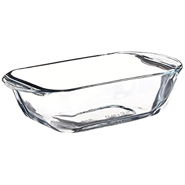 Anchor Hocking 77888 Fire-King Loaf Baking Dish, Glass, 1.5-Quart