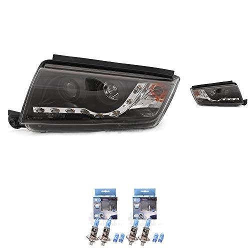 Preisvergleich Produktbild Scheinwerfer Set Fabia I 6Y 99-08 klarglas / schwarz Dragon Lights