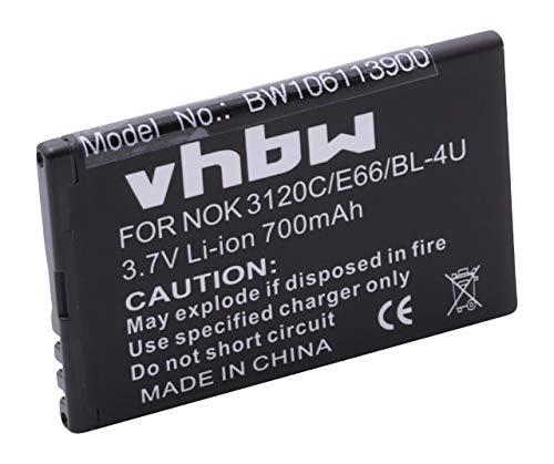 vhbw Akku kompatibel mit Blu EZ2Go Handy Smartphone Handy (900mAh, 3,7V, Li-Ion)