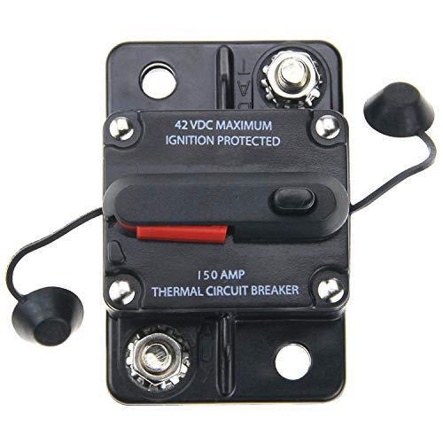 ZOOKOTO 150 Amp Car Automotive Marine Boat Audio Circuit Breaker with Manual Reset, 12V- 42VDC, Waterproof (150A)