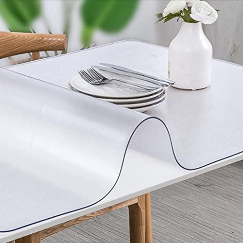 ZWYSL Mantel Transparente de Mesa Centro PVC Placa Cristal Vidrio Plástico Blando Protector Impermeable para Cojines Escritorio Personalizado, 1,5 Mm Grosor (Size : 90 * 150cm)