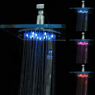 Warm Home speciale temperatuursensor van organisch glas, ronde douchekop, 3 kleuren
