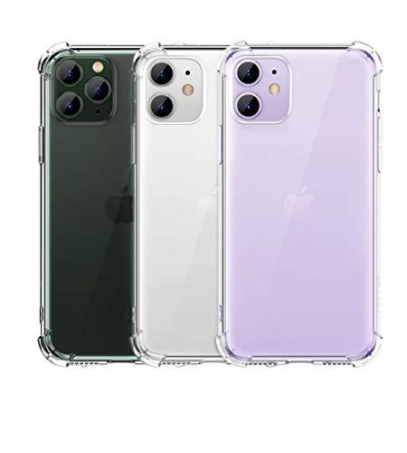CHECHE Funda de silicona a prueba de golpes para iPhone 11 X 6 6S para iPhone 11 Pro 7 8 Plus funda de teléfono para iPhone X Xr Xs Max 6 6S Funda protectora para iPhone 11, transparente