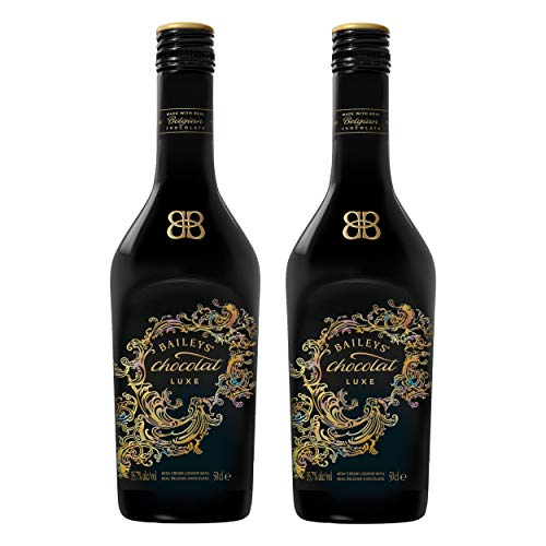 Baileys Chocolat Luxe, 2er, Original Irish Cream Liqueur with Real Belgian Chocolate, Likör, Alkohol, Alkoholgetränk, Flasche, 15.7%, 500 ml