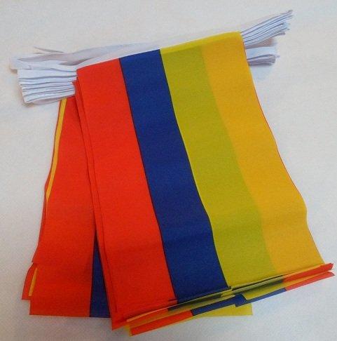 AZ FLAG Guirlande 4 mètres 20 Drapeaux Colombie 15x10 cm - Drapeau colombien 10 x 15 cm