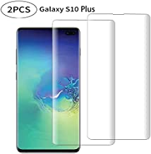 Galaxy S10 Plus Screen Protector Tempered Glass, 3D Curved Full Screen Coverage, Fingerprint Identification, Case Friendly...