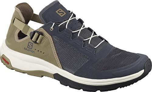 Salomon Herren Tech Amphib Walking Shoe, Marineblau Beige Ebony Mermaid Vanilla Ice, 46 2 3 EU