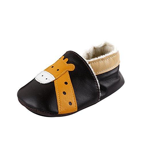 Free Fisher Chaussures premiers pas, fourrées pour l'hiver, disponibles dans de nombreux designs , Giraffe ,18-24 Monate