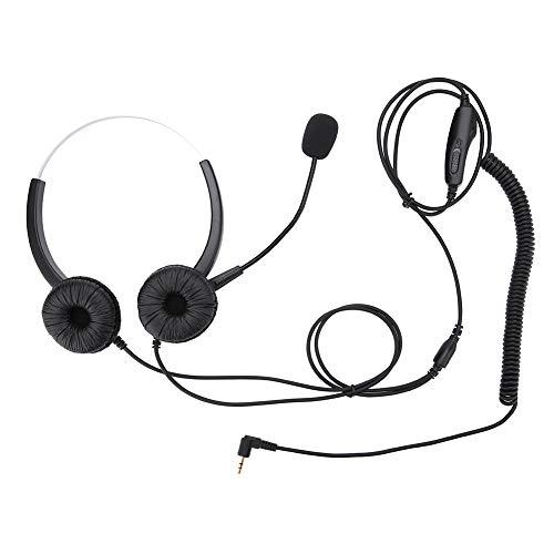 Shipenophy Función de Silencio H800D-2.5 Auricular Individual con Ajuste de Volumen del micrófono para comunicación