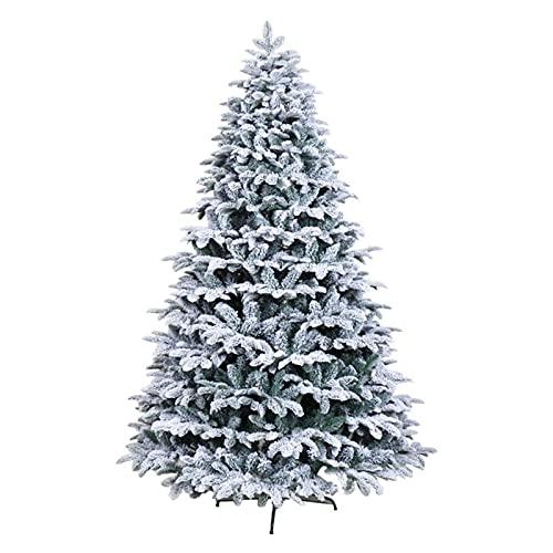 FENGNV Albero di Natale Folto Supporto in Metallo di Cedro grassoccio Naturale innevato per Albero di Natale Facile da Montare per la Festa di Natale(Size:150cm(5ft))