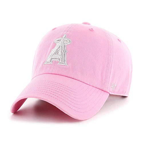 '47 Anaheim Angels Youth Adjustable Pink Clean Up Girls Cap - MLB LA Kids Low Profile Relaxed Fit Baseball Hat