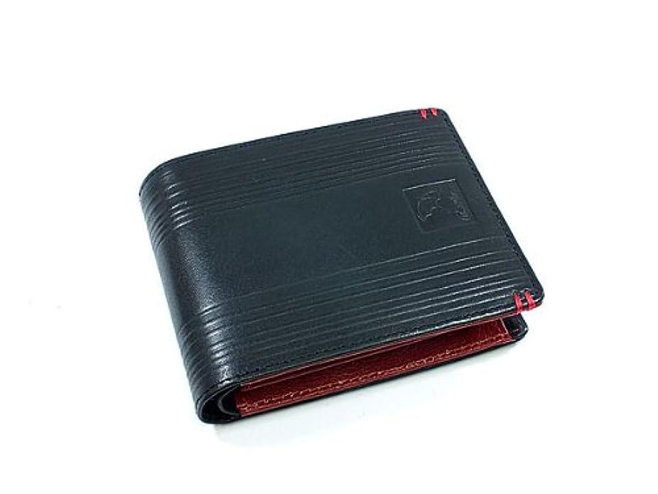 埋め込む知的風変わりなアーノルドパーマー ARNOLD PALMER 三つ折り短財布 AP-BS221-BKRD ブラック×レッド