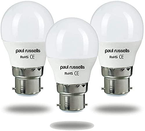Los mit 3 LED-Lampen 5 W Golf B22 BC Bajonett Paul Russels leuchtend 5 W = 40 W G45 Kleine Kugelkugel 270 Strahllampe 2700 K Warmweiß 40 W Ersatzglühlampe