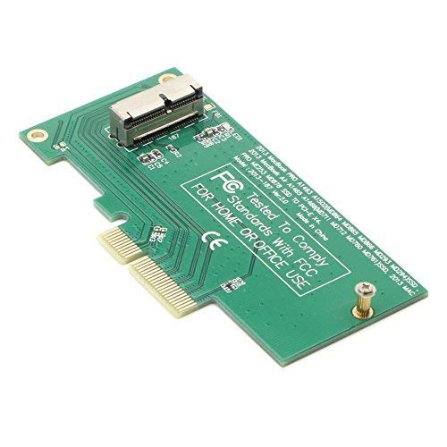 2013 2014 2015 2016 MacBook Air Pro Retina SSD Slot to PCIe Express x4 Converter Adapter Card, Support Model A1465 A1466 A1398 A1502