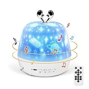 Luz de Noche para Niños, Gemmac 3-IN-1 Luz Nocturna Proyector Estrellas con Proyector Bebes Luces y Musica Proyector de Estrellas para Bebés, Dormitorio, Nursery