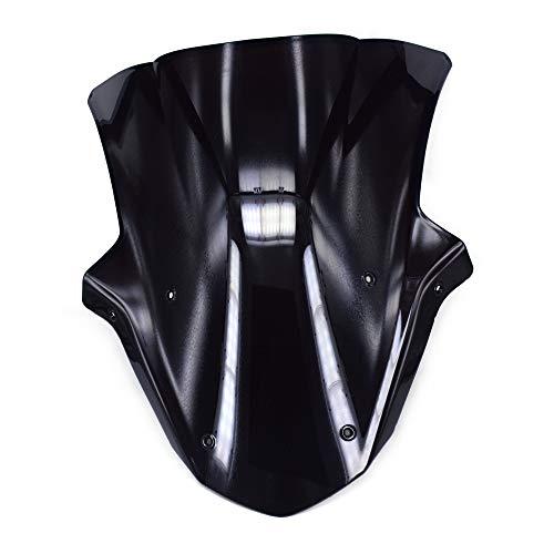 Un Xin Noir Pare-Brise Pare-Brise écran Double Bubble pour Kawasaki Ninja Zx10r 2011–2015 2012 2013 2014