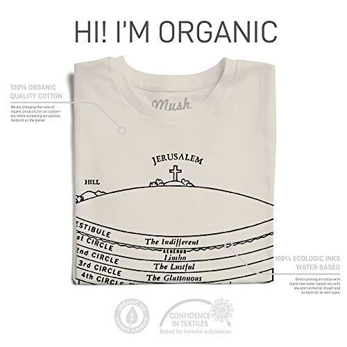 Mush T-Shirt Dante Alighieri Inferno Letteratura - 100% Cotone Organico