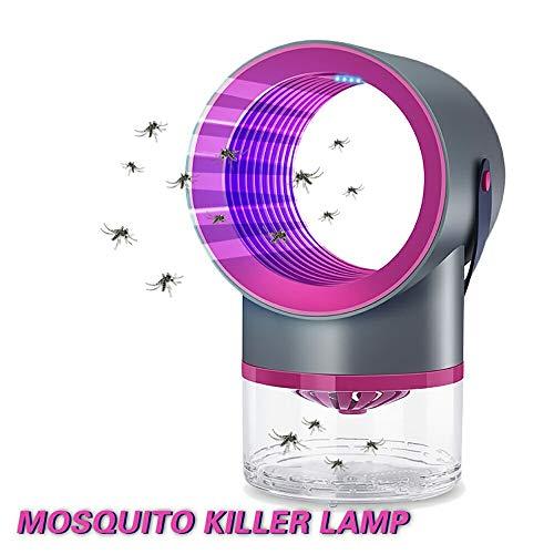 Led Mosquito Killer Lamp UV Nachtlampje Geen Geluid Geen Straling USB Elektrisch voor Keuken Slaapkamer Insectenmoordenaar Valt Vallamp,Frosted black