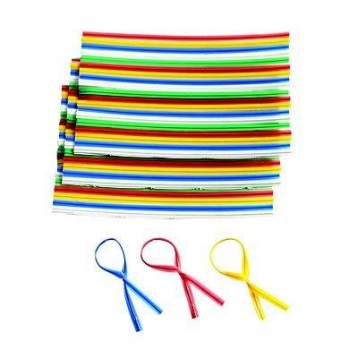 Lakeland Beutelverschlüsse, zum Verdrehen, Fünf verschiedene Farben, 250er-Pack