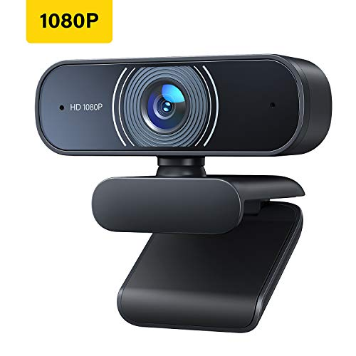 RALENO 1080P Webcam, Dual Built-in Microphones, Full HD Video Camera for Computers PC Laptop Desktop, USB Plug and Play, Conference Video Calling, Streaming