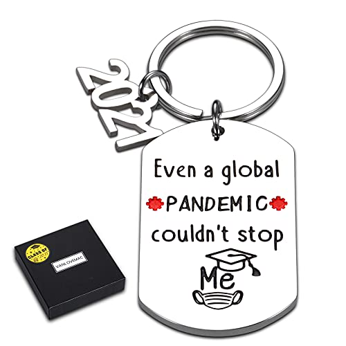 Funny 2021 Graduation Keychain Inspirational Gifts for Her Him...