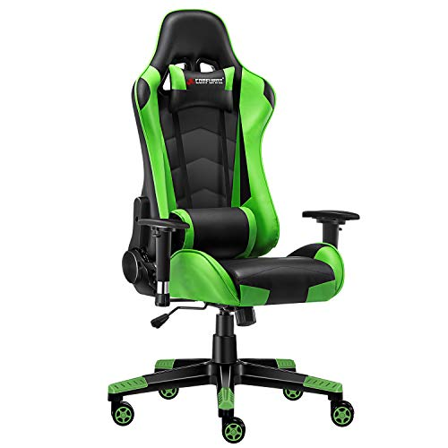 JL Comfurni Gaming Chair Ergonomic Swivel Office PC Desk Chair