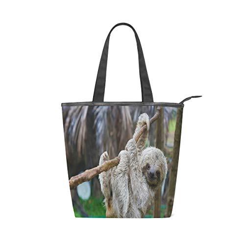 Cute Animal Sloth Leisure Fashion Canvas Handbag for...