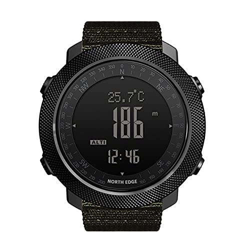 ZFAME Reloj Militares Militares para Hombre Relojes Digitales Deportivos al Aire Libre con Temperatura de la brújula, rastreo de escalones, Esfera Grande, Modelo,Verde