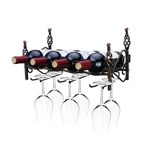 Botellero Rack de vinos Europeo Creativo Sala de Estar Cocina Bar Decoración de Pared Estante de Almacenamiento Rack de Vino Vino Estante