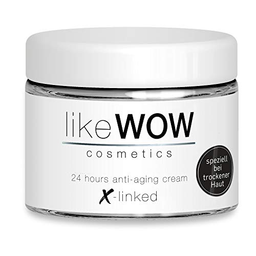 Speziell für trockene Haut: likeWOW Anti-Aging Hyaluron-Creme 50 ml Made in Germany mit 3 hochdosierten Hyaluronsäuren (quervernetzt, kurz-, langkettig) und Peptide für Gesicht, Hals und Dekolleté