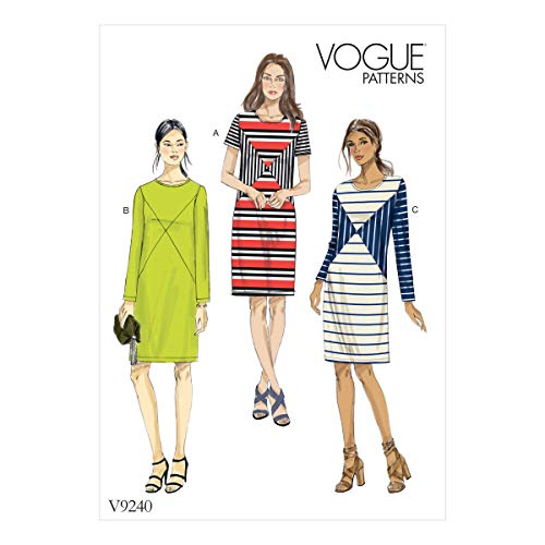 Vogue Patterns Jersey Robes, Multicolore, Tailles 14–22