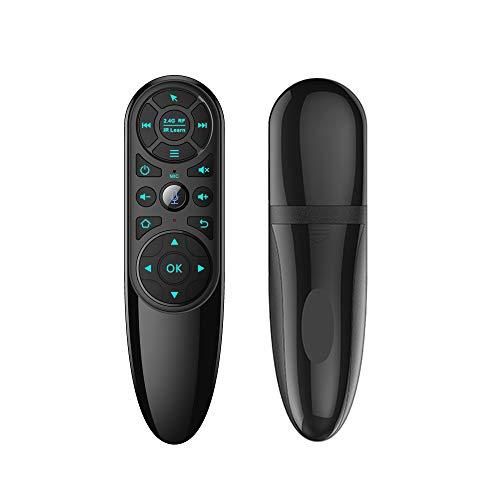 YAMAZA Mando distancia por voz, mando a distancia inteligente con giroscopio y 2,4 G inalámbrico, Air Mouse aprendizaje por infrarrojos, Android TV Box H96 X96 Max Plus X96 Mini, con retroiluminación