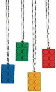Fun Express Brick Building Block Party Necklaces - 12 pc