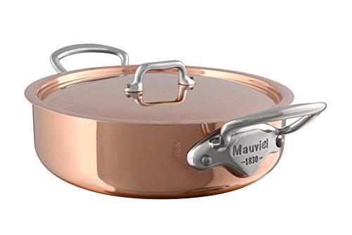 Mauviel1830 - Me Patrimonio - 6130.25 - sartén con Tapa - Diámetro: 25 cm