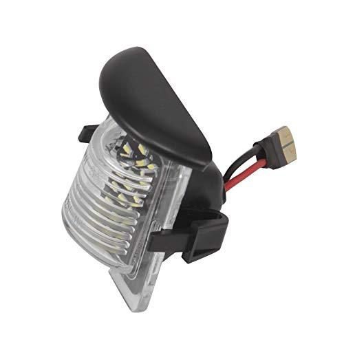 KKmoon Luz de Matrícula LED Soporte de Placa Trasera Soporte de marco Reemplazo para Wrangler JK 2007-2018