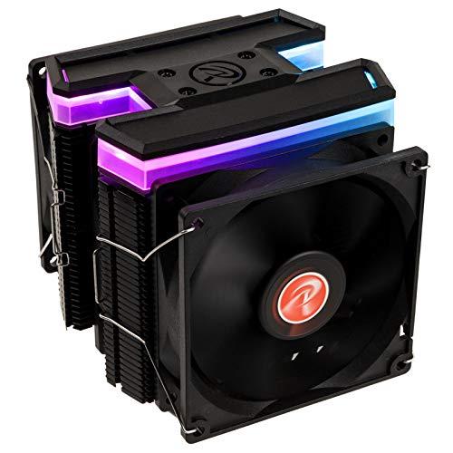 Raijintek Delos RBW - Torre Gemela, Disipador CPU RGB con Seis Heatpipes y Tres Ventilador PC 92mm - Compatible con Procesador Intel y AMD - Potente Disipador PC para Juegos CPU Overclocking
