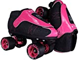 VNLA Junior Zona Rosa Jam Skates for Men and Women - Indoor Unisex Roller Skates for Tricks and Rhythm Skating (Men 3 / Women 4)