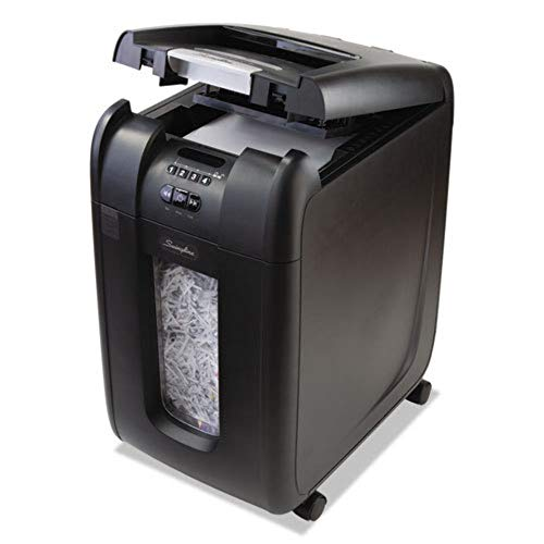 %7 OFF! SWINGLINE 1703092 Stack-and-Shred 300XL Auto Feed Super Cross-Cut Shredder Value Pack, 300 S...
