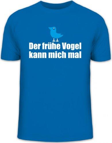 Shirtstreet24, Der frühe Vogel kann Mich mal, Herren T-Shirt Fun Shirt Funshirt, Größe: S,royal blau