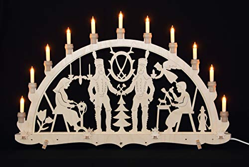 Schwibbogen Erzgebirge Bergmänner traditionelles Motiv Lichterbogen Weihnachten Advent Dekoration