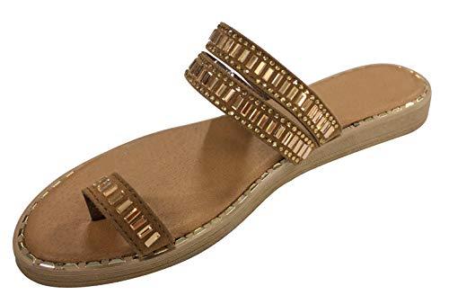 Best Easter Shoes for Girls Sandalia de Mujer Beach Pool Travel Gladiator Dressy Slippers Sandals Shoes for Women Teen Girls (Tan Size 5.5)