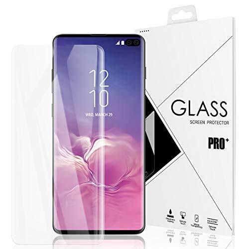 AIHülle S10 Plus Schutzfolie passend für Samsung Galaxy S10 Plus Folie Bildschirmschutzfolie,Kompatibel mit ultraschall-fingerabdruckscanner,Blasenfreie,0.12mm Weiche TPU Full-Screen Schutzfolie