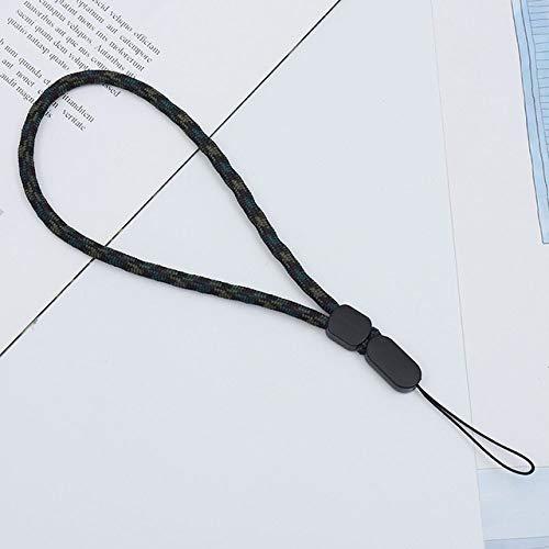 Hot Correas para teléfonos móviles Llave USB Cordón corto Walkie Talkie ajustable Correa de mano Cuerda de muñeca Audio Cordón antipérdida, Verde militar