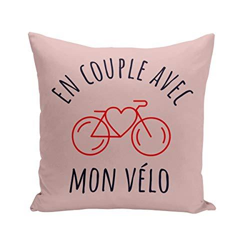 Fabulous Coussin 40x40 cm en Couple avec Mon Vélo France Cyclisme Tourisme