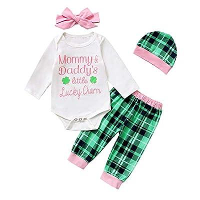 Amazon - Save 45%: TrulyBee Baby Girl Daddy&Mommy Little Lucky Charm Bodysuit Newborn S…