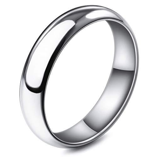 MunkiMix Ancho 5mm Acero Inoxidable Banda Venda Anillo Ring El Tono De...
