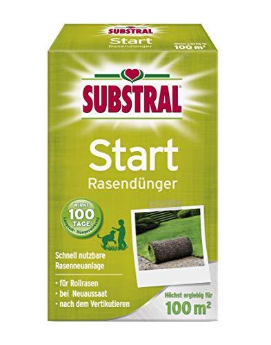 Substral Start-Rasen Dünger für die Rasenneuanlage durch Aussaat & Rollrasen, mit 100 Tage Langzeitwirkung, 100m², 2 kg