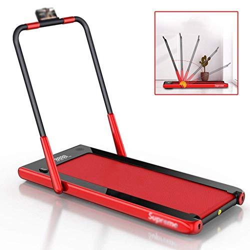 Zhipeng Cintas de Correr Ejercicio máquinas motorizadas muda a casa a pie con apoyabrazos Plegable 110 Grados;rotación, Teniendo 80 kg (Color: Rojo, tamaño: 107 * 69 * 134cm) hsvbkwm