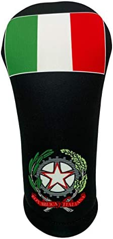 World Flag Themed Golf Club Head Covers Italy Black Fairway product image